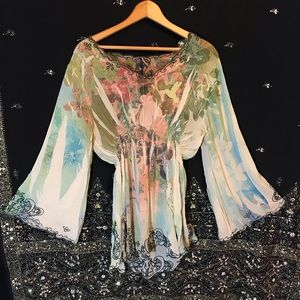 🌛Vintage Elven Bell Sleeve Tunic Blouse